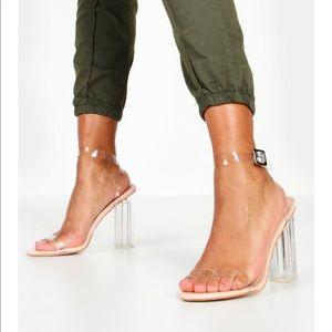 boohoo clear heels